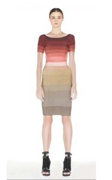 a0622a94acf4 Ombre coloring from light white to dark red just brings a fresh and  eyecatching silhouette to this Conservative and demure bandage dress