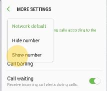 menampilkan nomor panggilan samsung