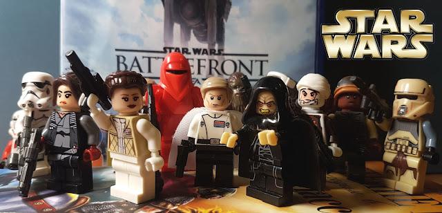 Lego Star Wars Battlefront, Palpatine, Jyn Erso, Princess Leia, stormtroopers, director Krennic, red guard, rebels, Dengar