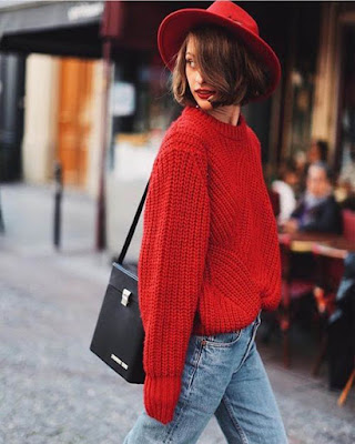 outfit red casual