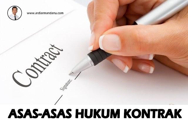Asas  Asas Hukum Kontrak