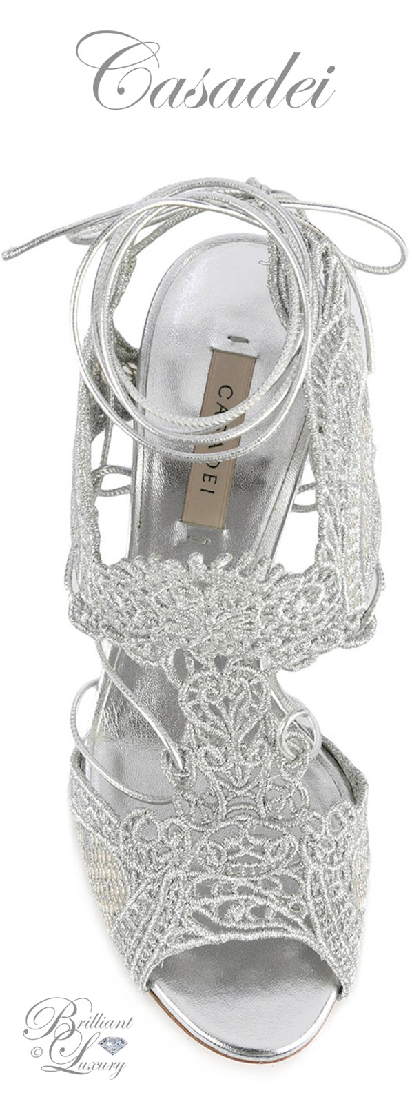 Brilliant Luxury ♦ Casadei Lace Sandals