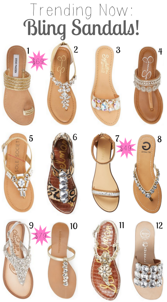 b0e494f87 Trending Now  Bling Sandals - A Mix of Min