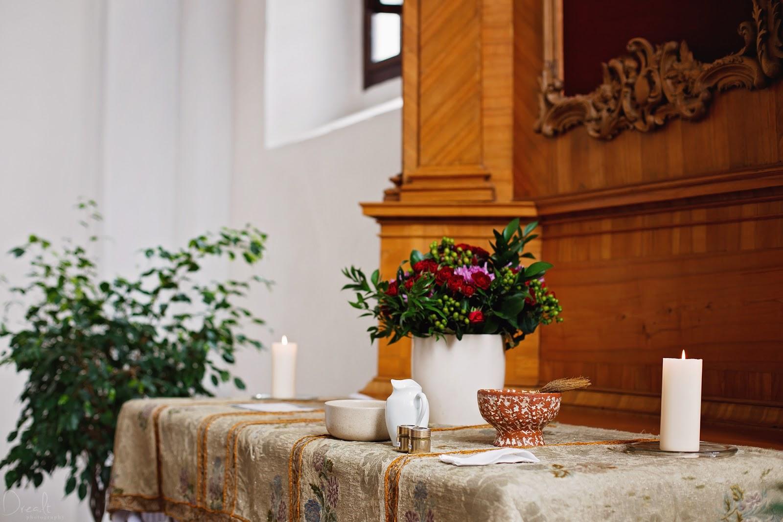 Krikštynų ceremonija Bernardinų bažnyčioje
