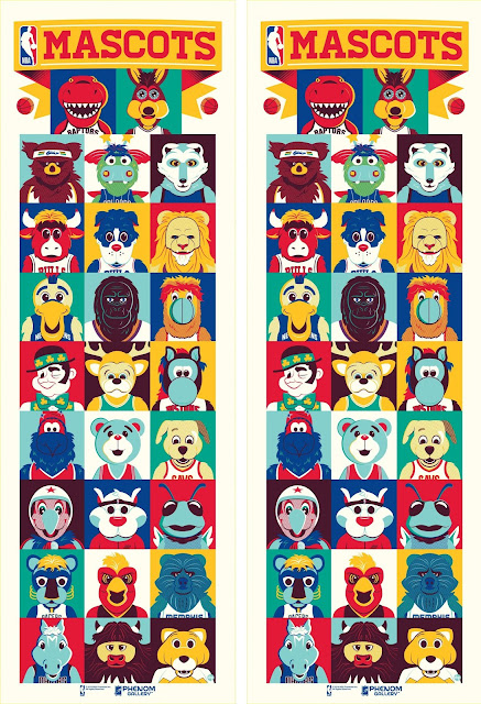 NBA Mascots Screen Print by Dave Perillo x Phenom Gallery