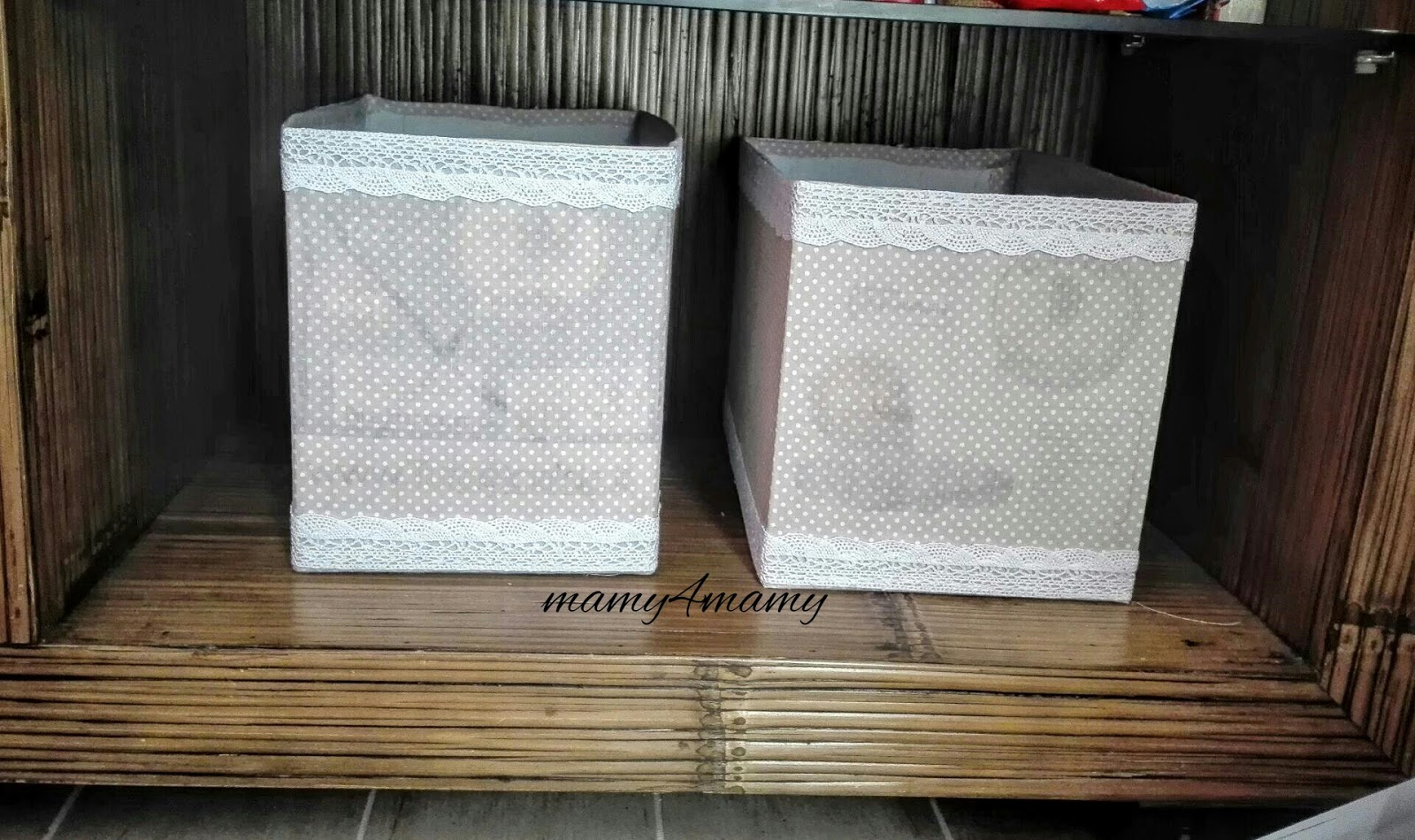 Mamy4mamy una scatola di cartone diventa un porta riviste - Scatole porta viti ...