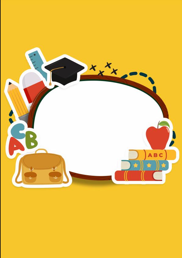 Caratula para cuaderno de educación e inglés