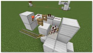 Minecraft 高速トロッコ輸送 アイテム荷降ろし駅 作り方⑩