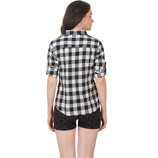 Checkered Black Shirt