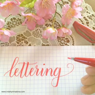memulai lettering, lettering untuk pemula, basic lettering, lettering for beginner, www.indahprimadona.com