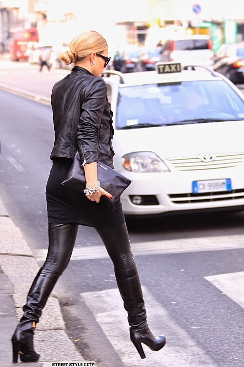 www.streetstylecity.blogspot.com streetstyle: Black leather