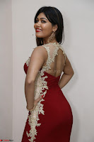 Rachana Smit in Red Deep neck Sleeveless Gown at Idem Deyyam music launch ~ Celebrities Exclusive Galleries 091.JPG