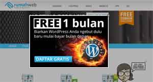 hosting wordprees rumah web