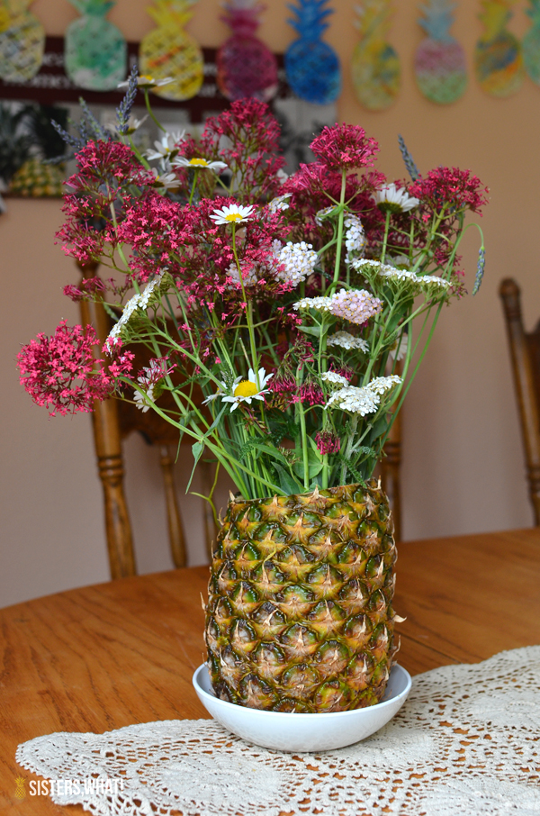 pineapple flower vase