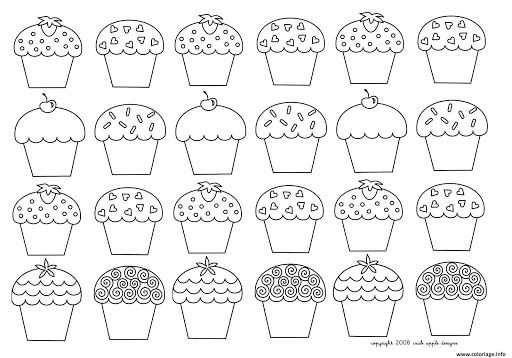 best free hello kitty cupcake coloring pages pictures