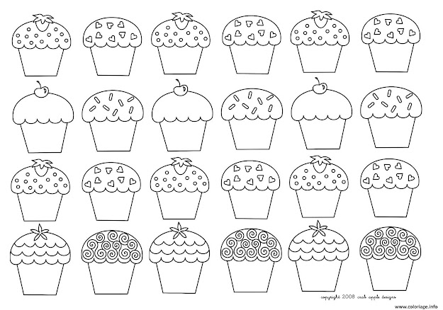 Cupcake Coloring Page Cupcake Coloring Page Cupcake Coloring Page Hello  Kitty