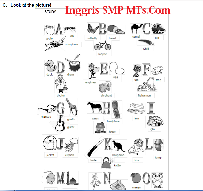 Belajar Alphabet Huruf Abjad Inggris | BAHASA INGGRIS SMP/MTs