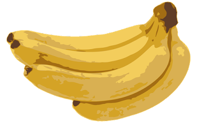 clipart gambar buah pisang raja