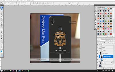 Cara Desain Mockup Asus Zenfone Pro M1
