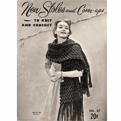 Crocheted Stole Pattern with extra long fringe
