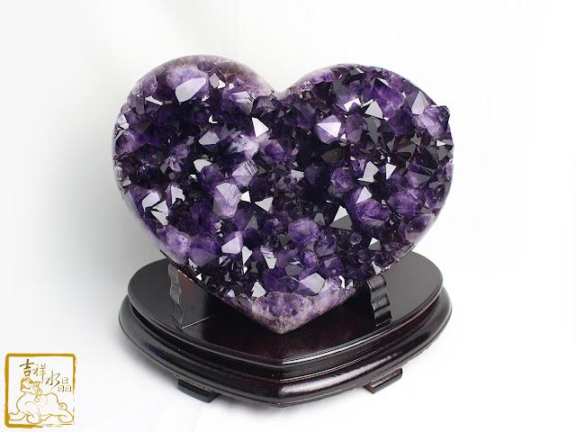 愛心紫晶片
