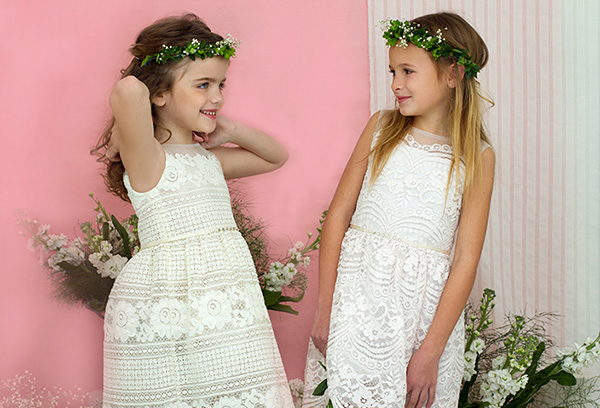 Vestidos para nenas moda primavera verano 2018.