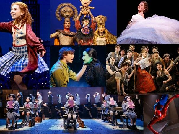 Shows da Broadway para crianças