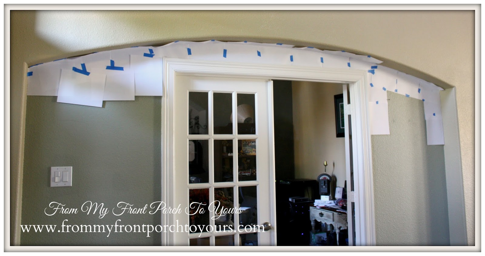 Faux Brick Wall Arch Template From My Front Porch To Yours
