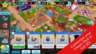 Download gratis RollerCoaster Tycoon Touch Unlimited Money mod apk