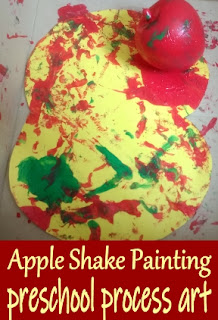 Apple Shake Painitng preschool process art
