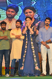 Actress Keerthi Suresh Stills in Blue Long Dress at Nenu Local Audio Launch  0054.JPG