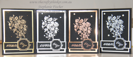 #thecraftythinker #veryvintage #cardset #cardmaking #heatembossing , Very Vintage, Hand Made Card Set, Stampin' Up Australia Demonstrator, Stephanie Fischer, Sydney NSW