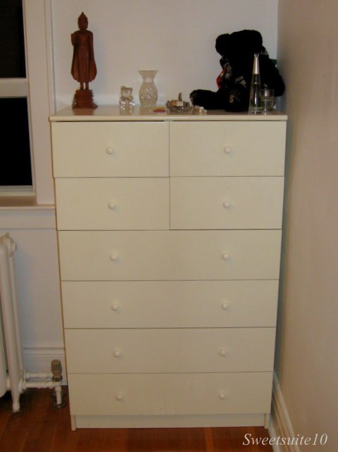Old white Ikea Dresser