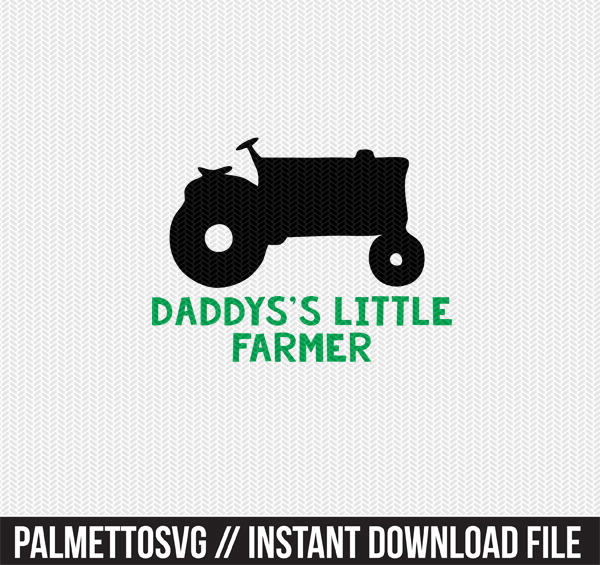 daddys little farmer clip art svg dxf cut file silhouette cameo cricut download