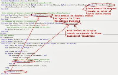 Configurar Métodos de Eventos sin utilizar el Diseñador