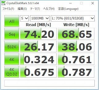 WD10EADSのベンチマーク