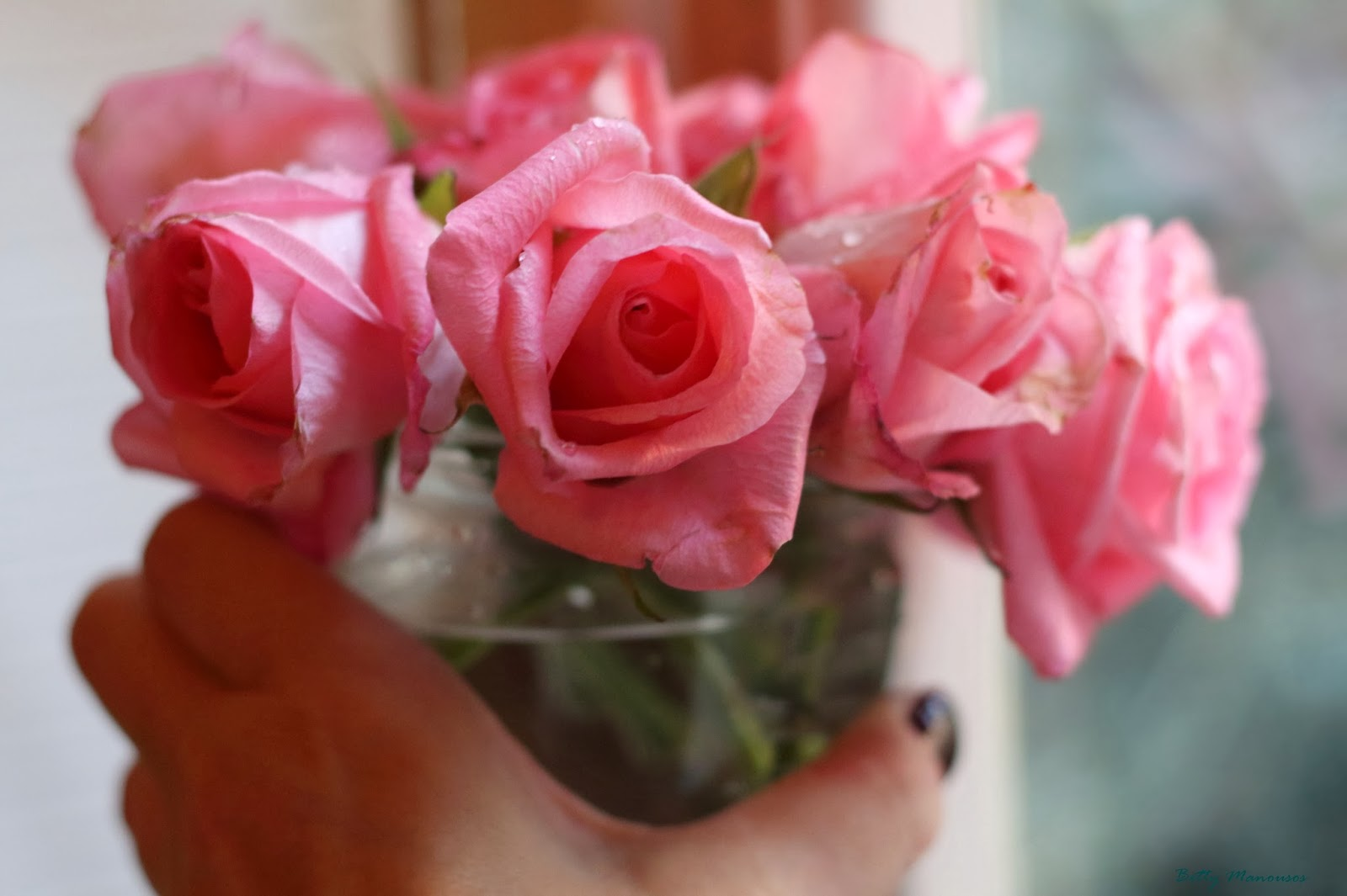 good morning bunch of beautiful pink roses