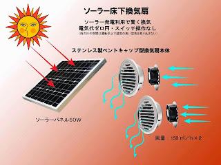 ソーラー床下換気扇