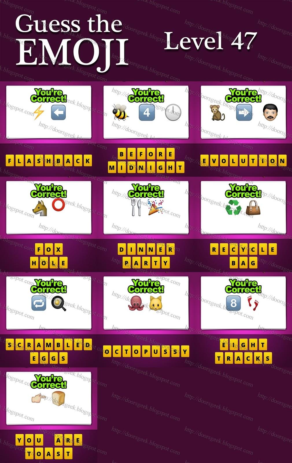 Food And Drink Emoji Game