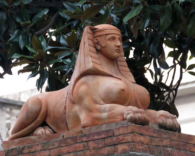 My favorite sphinx, Via Enrico Mayer, Livorno