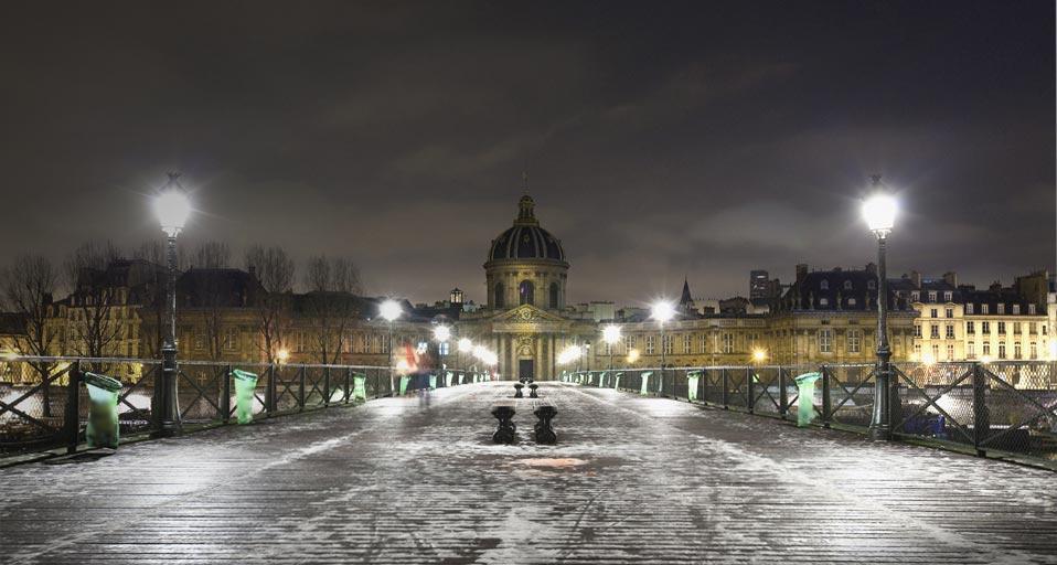 Haiku-bing: Bridge Of Arts In Paris, France
