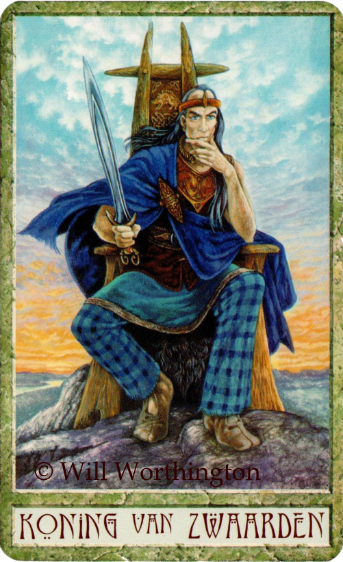 Druidcraft Tarot King of Swords  Will Worthington