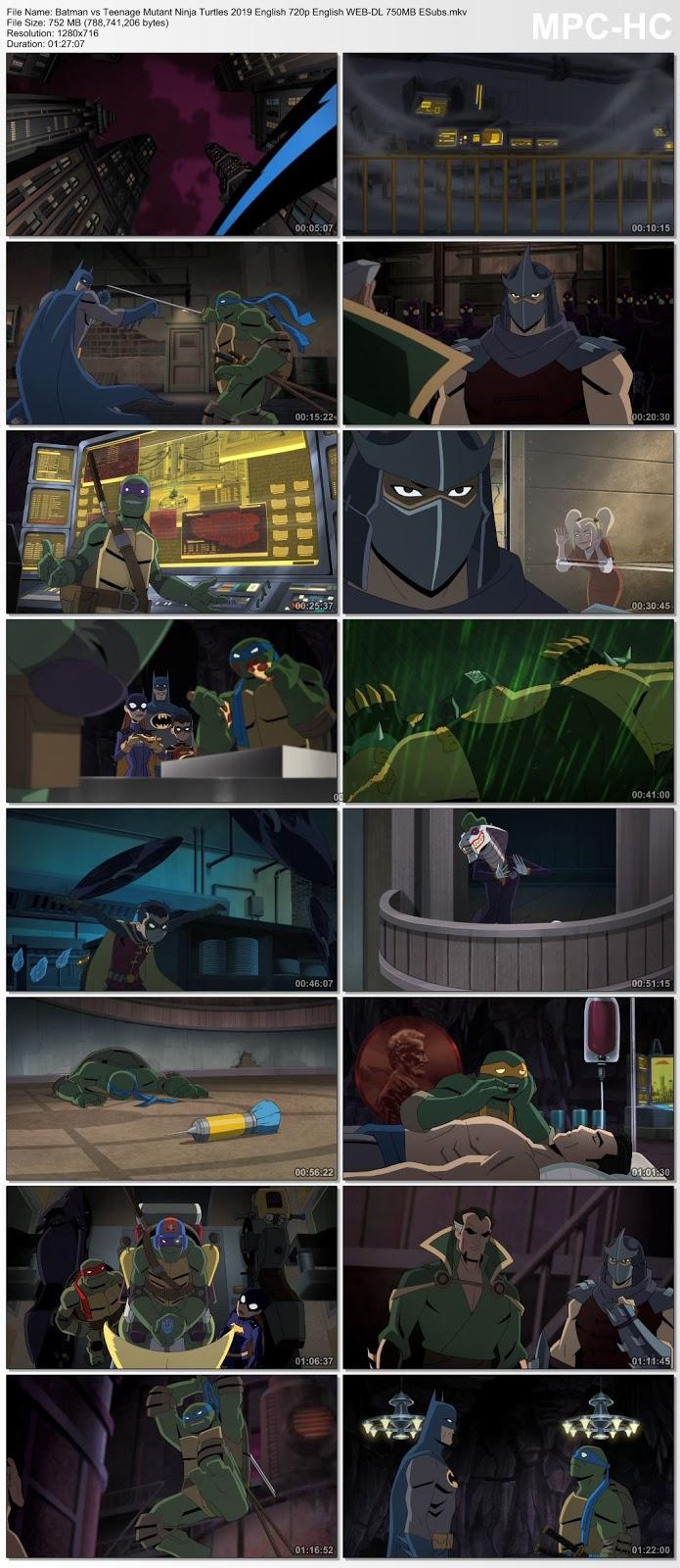 Batman vs Teenage Mutant Ninja Turtles 2019 English 480p WEB-DL ESubs 280MB Desirehub
