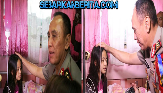 Senyum Zanette Kalila Azaria (13) Putri Dodi Triono Saat Permintaannya Dikabulkan Kapolda Metro.