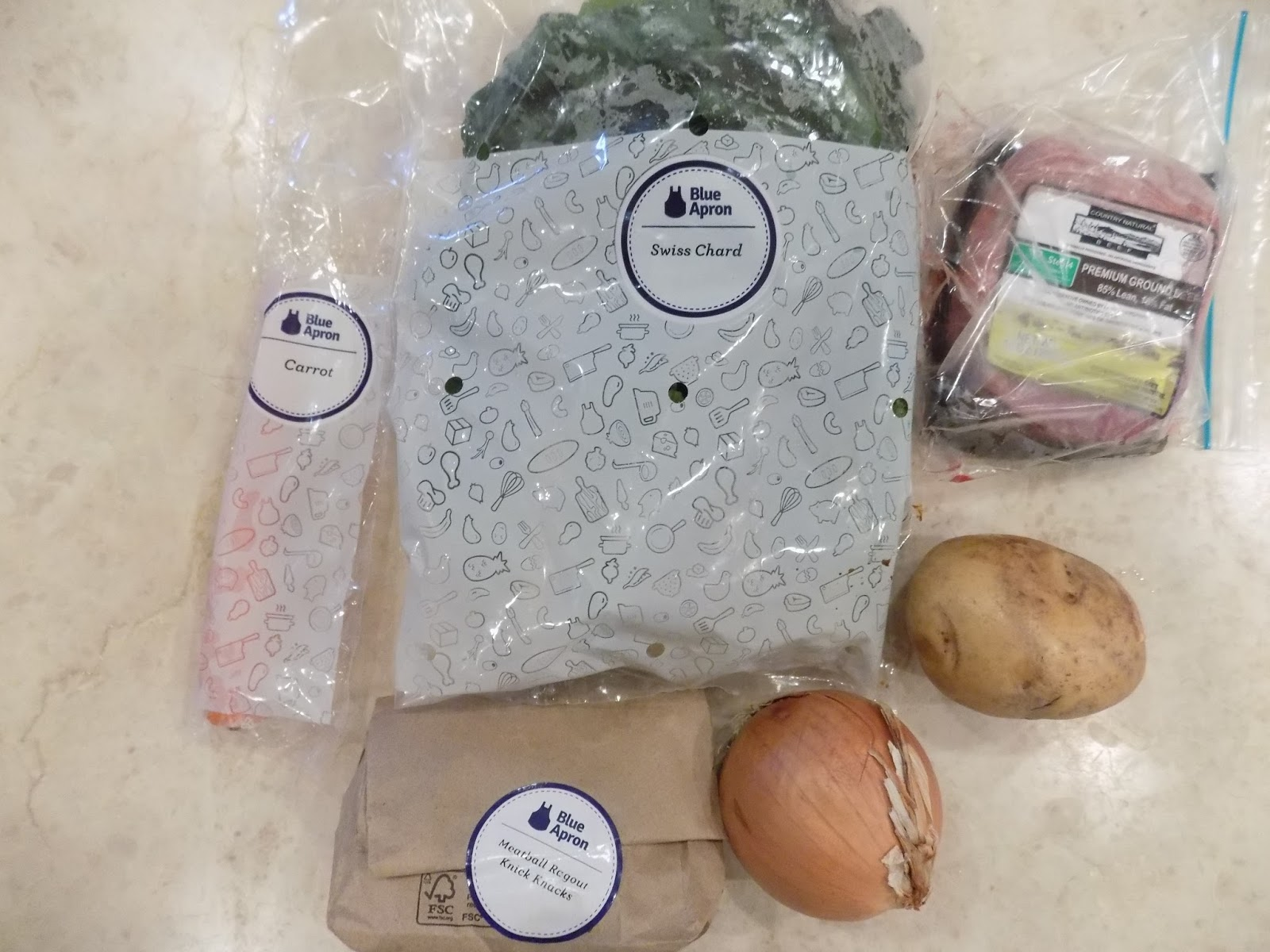 Blue apron target market - The Ingredients Meat Is In Baggie Because It Leaked