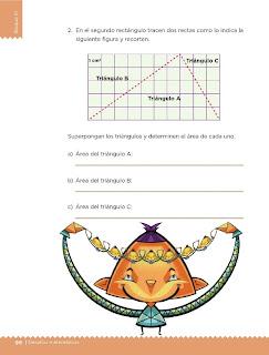 Apoyo Primaria Desafíos Matemáticos 5to. Grado Bloque III Lección 50 Divido figuras