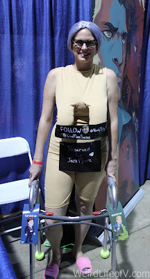 Nudie Judy Cosplay at the Con Man booth at LBCC 2016