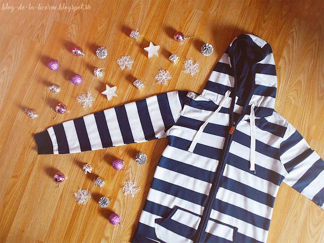 Long Sleeve Striped Zippered Women's Hoodie