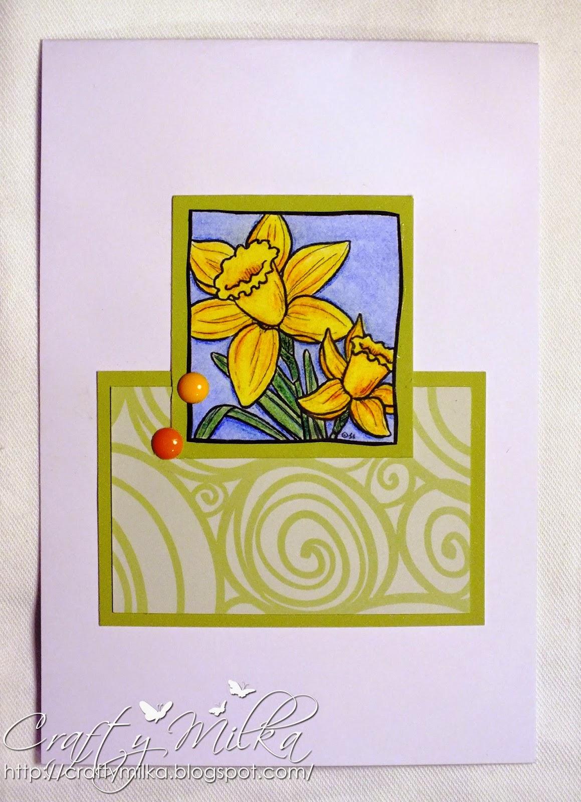http://craftymilka.blogspot.com/2015/03/daffodils-card.html