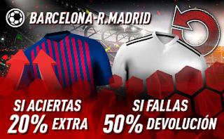 sportium promocion Barcelona vs Real Madrid 28 octubre